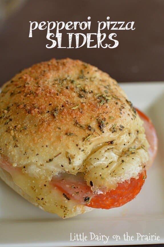 pepperoni pizza sliders field meal