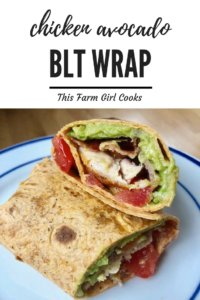 blt wrap with chicken and avocado