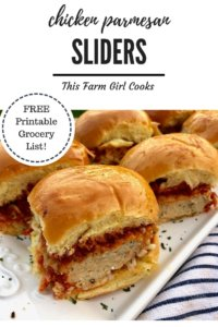 Chicken Parmesan Sliders are a great alternative for your next cookout! Freezer friendly and an easy recipe make these kid approved!