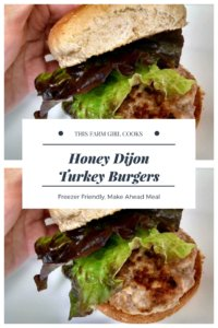 honey dijon turkey burgers are moist, juicy and delicious - they're a perfect make ahead freezer meal